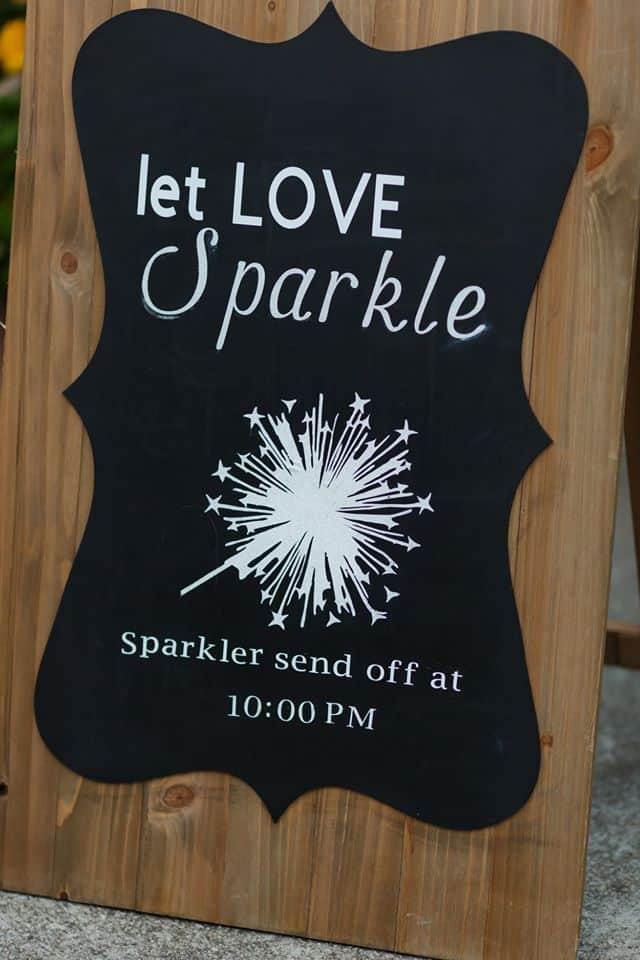 Let Love Sparkle Sign with picture of sparklers