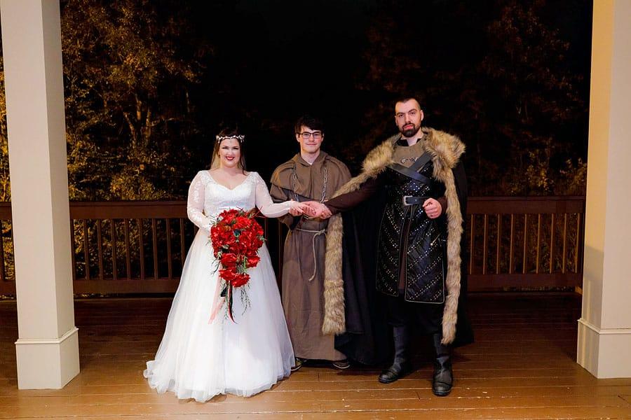 Medieval bride and groom