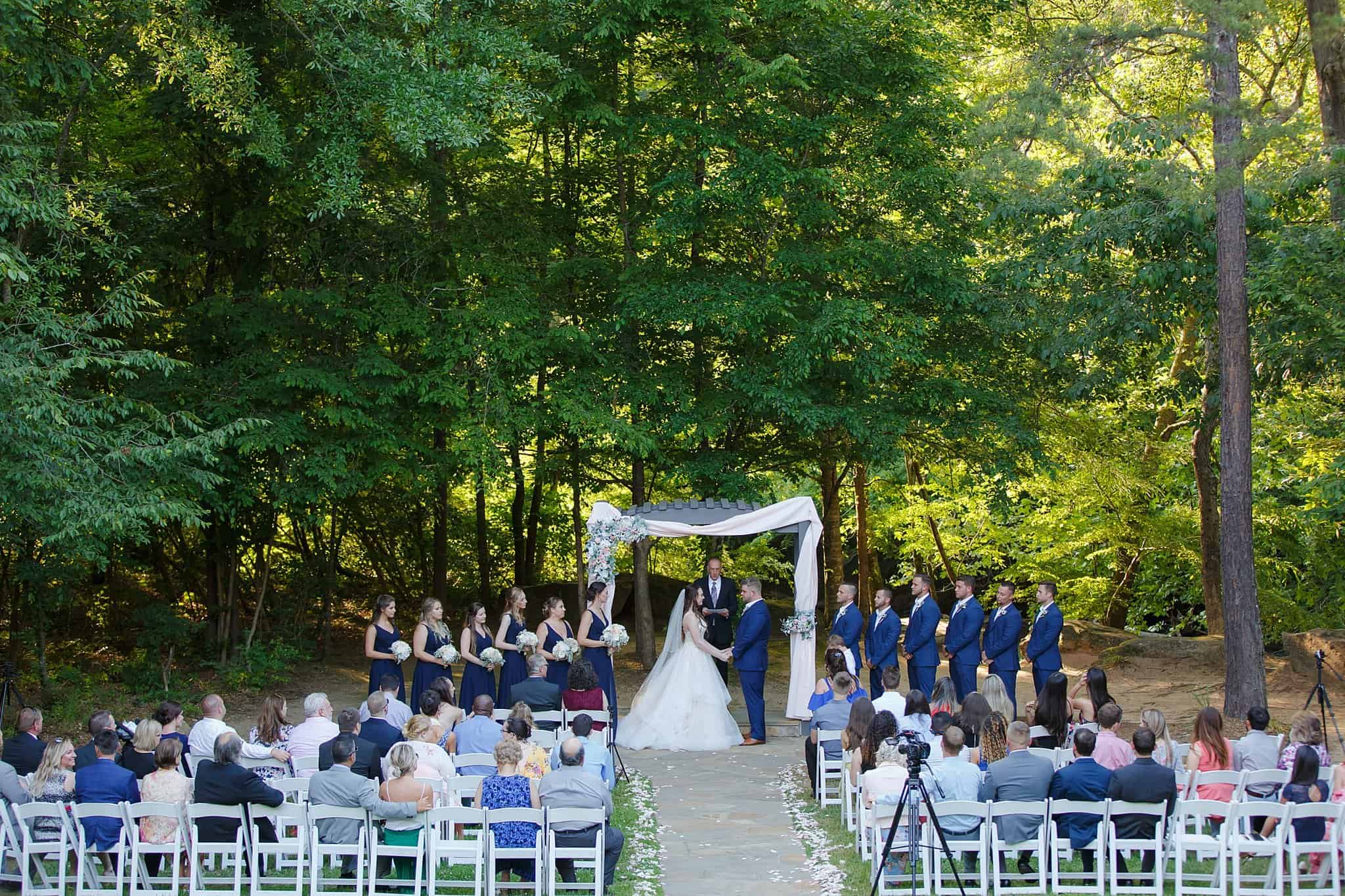 Navy wedding down by the river