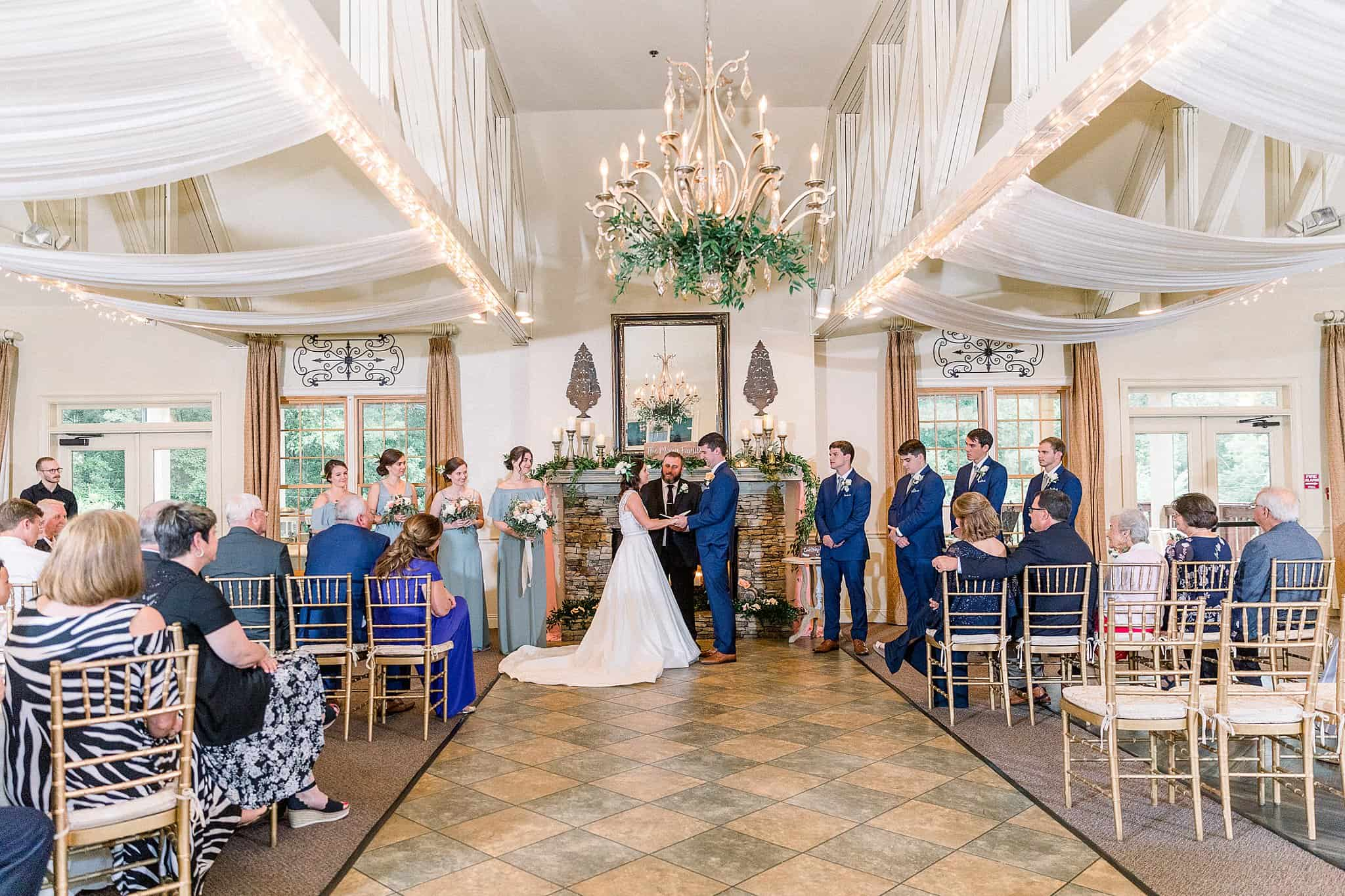 elegant indoor ceremony