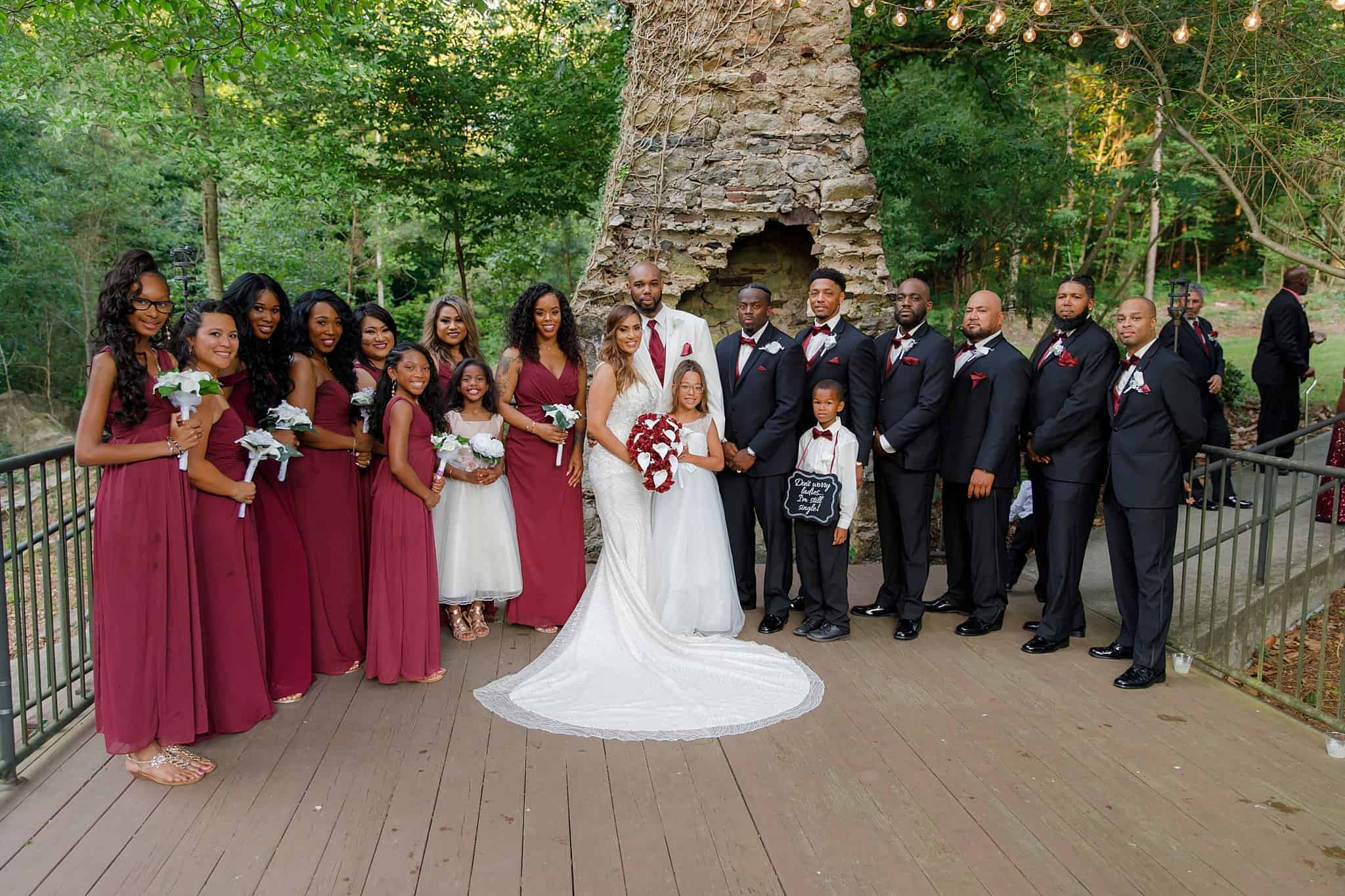 burgundy and black wedding