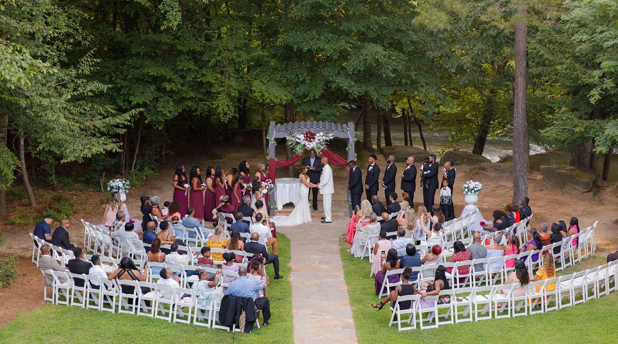 outdoor wedding in june