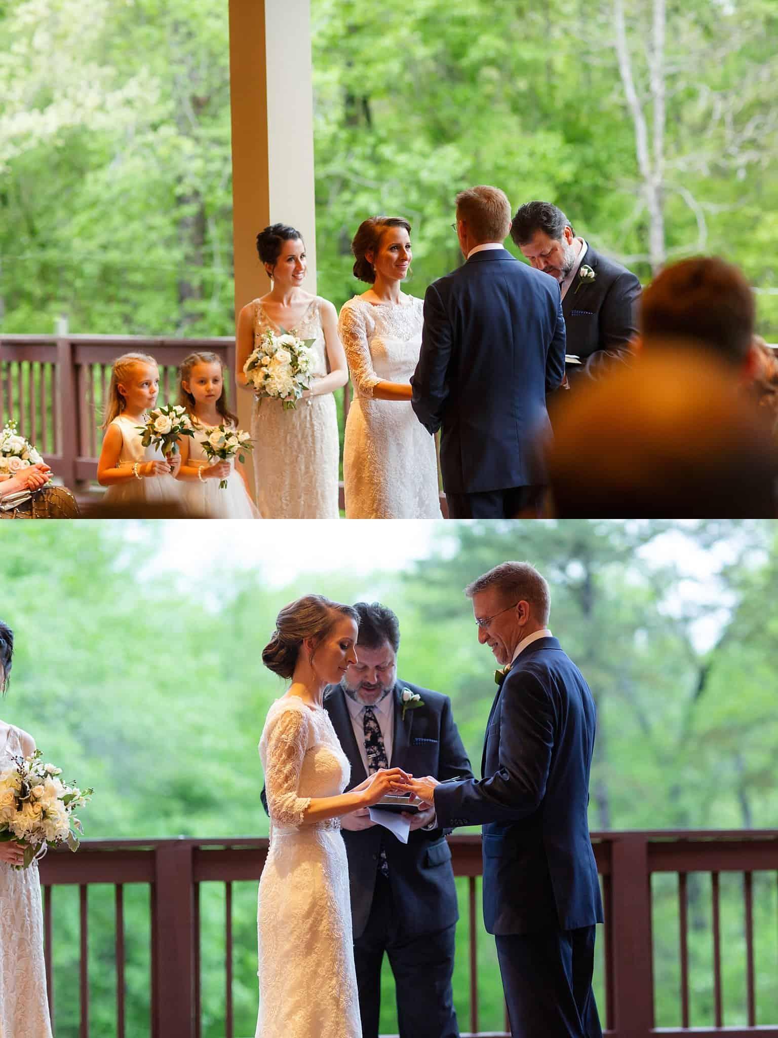 April Wedding on the Deck