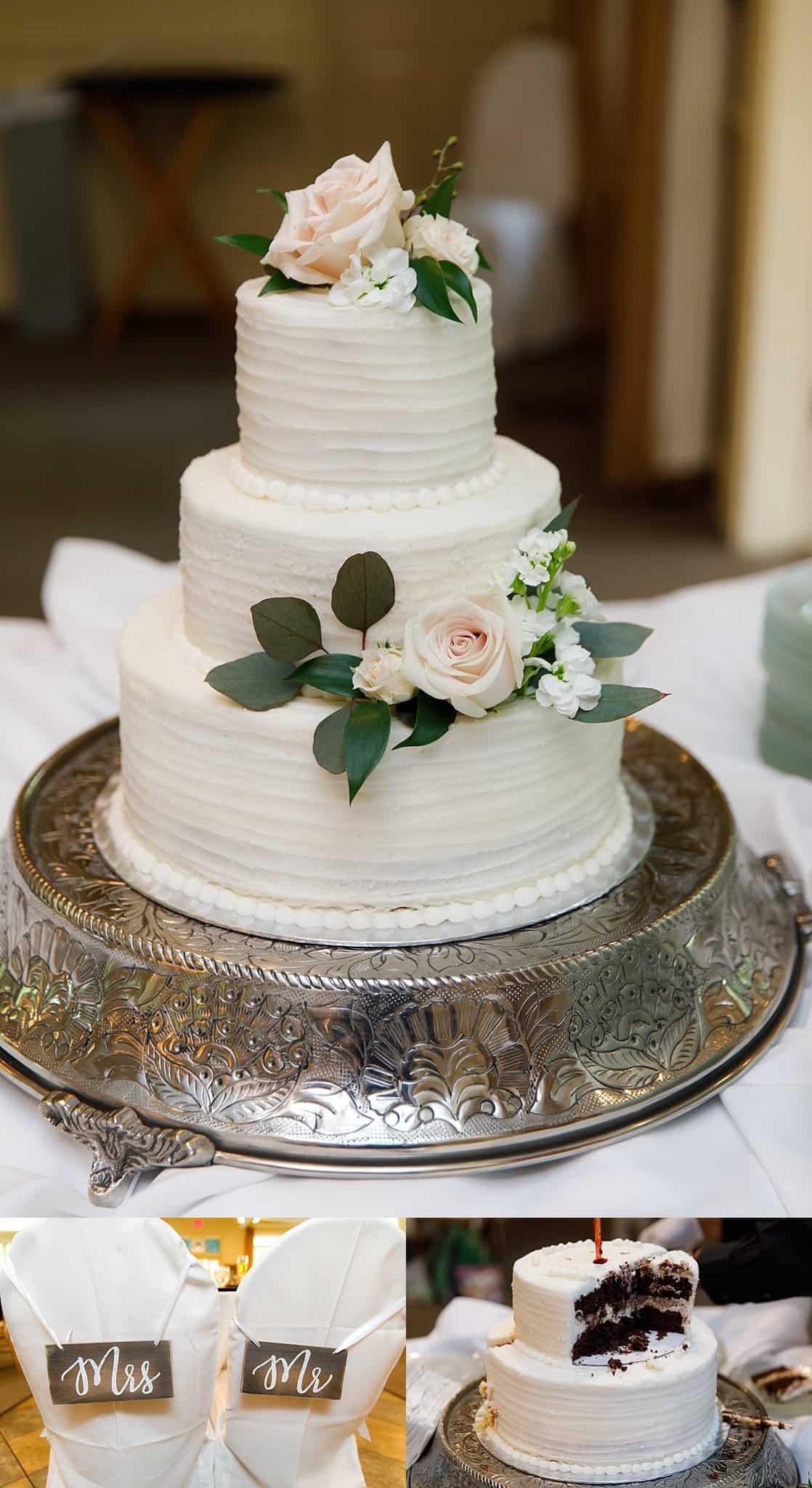 Three-tiered Ivory wedding cake
