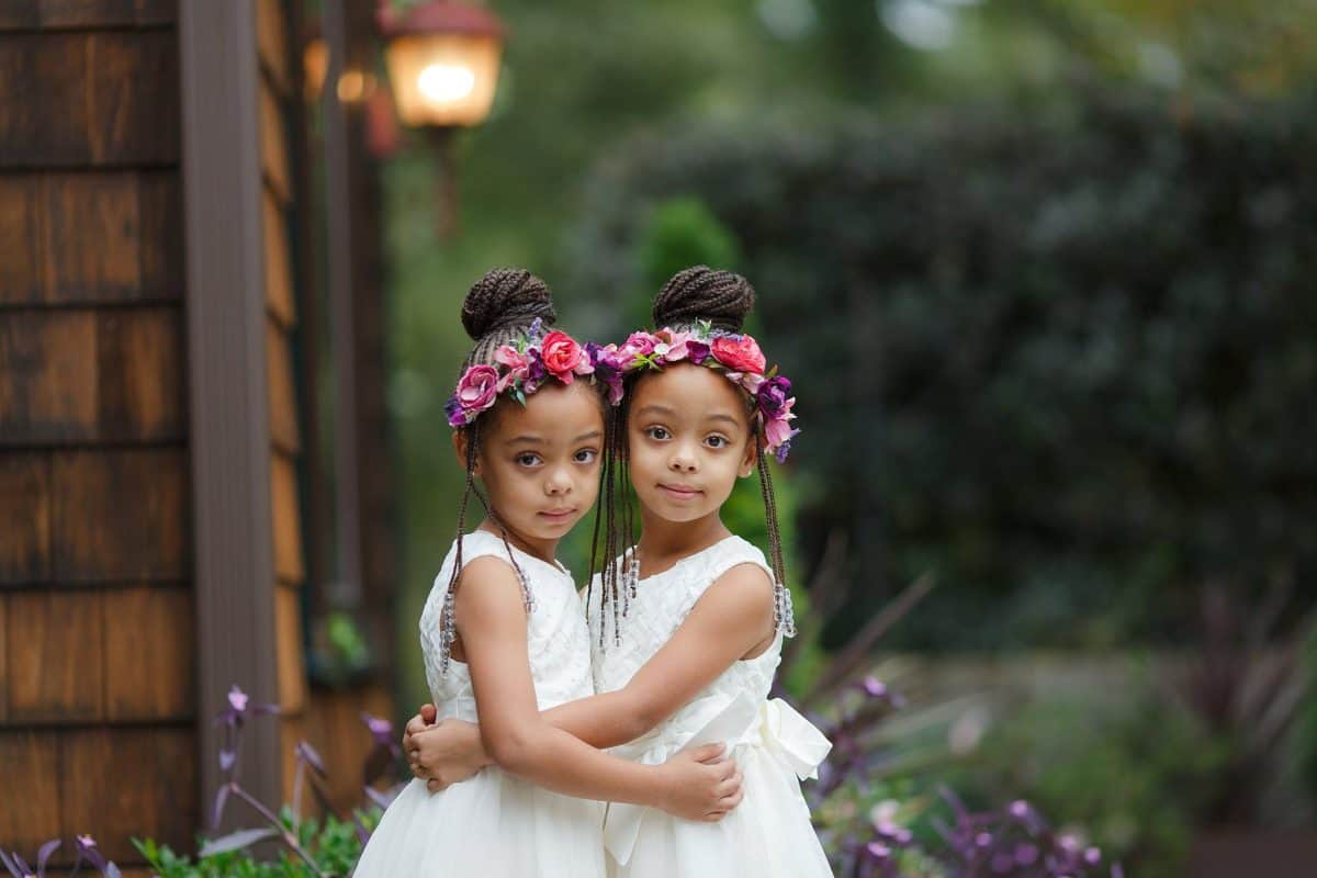 Adorable twin flower girls