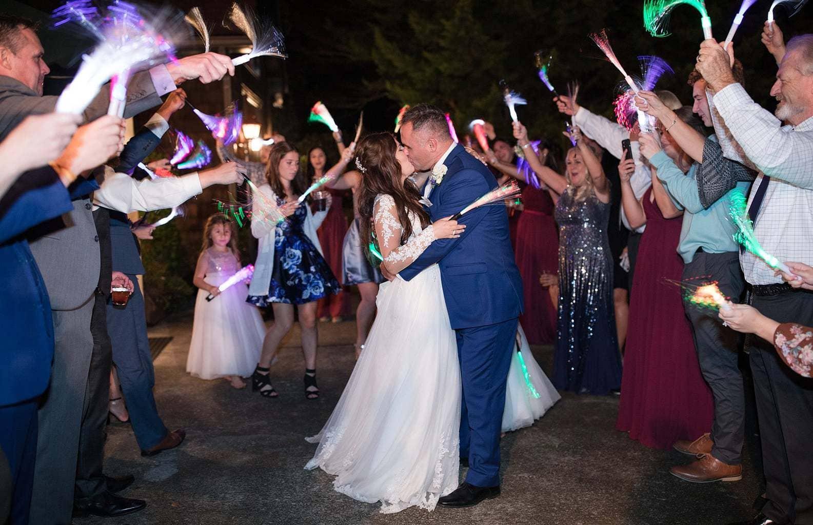 Final grand send off wedding exit