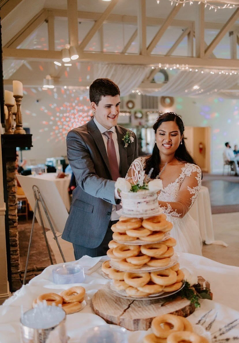 Cake topper and Doughnut tower desserts