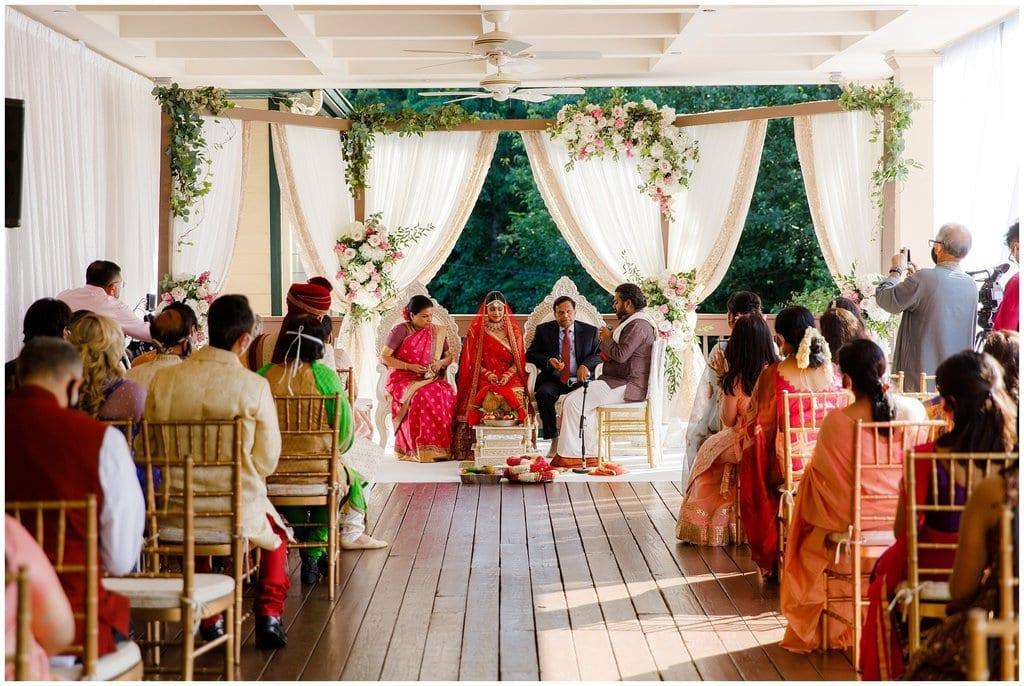 Indian Wedding at Vecoma outdoor patio
