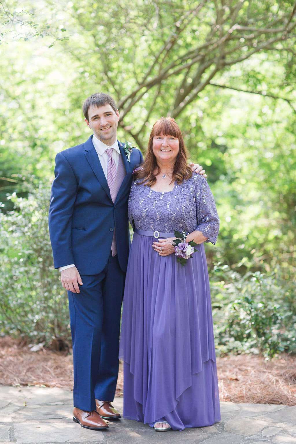 Mother and Son Outdoor Wedding