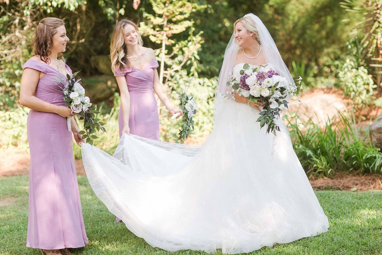 Pink Bridesmaid Dresses Outdoor wedding