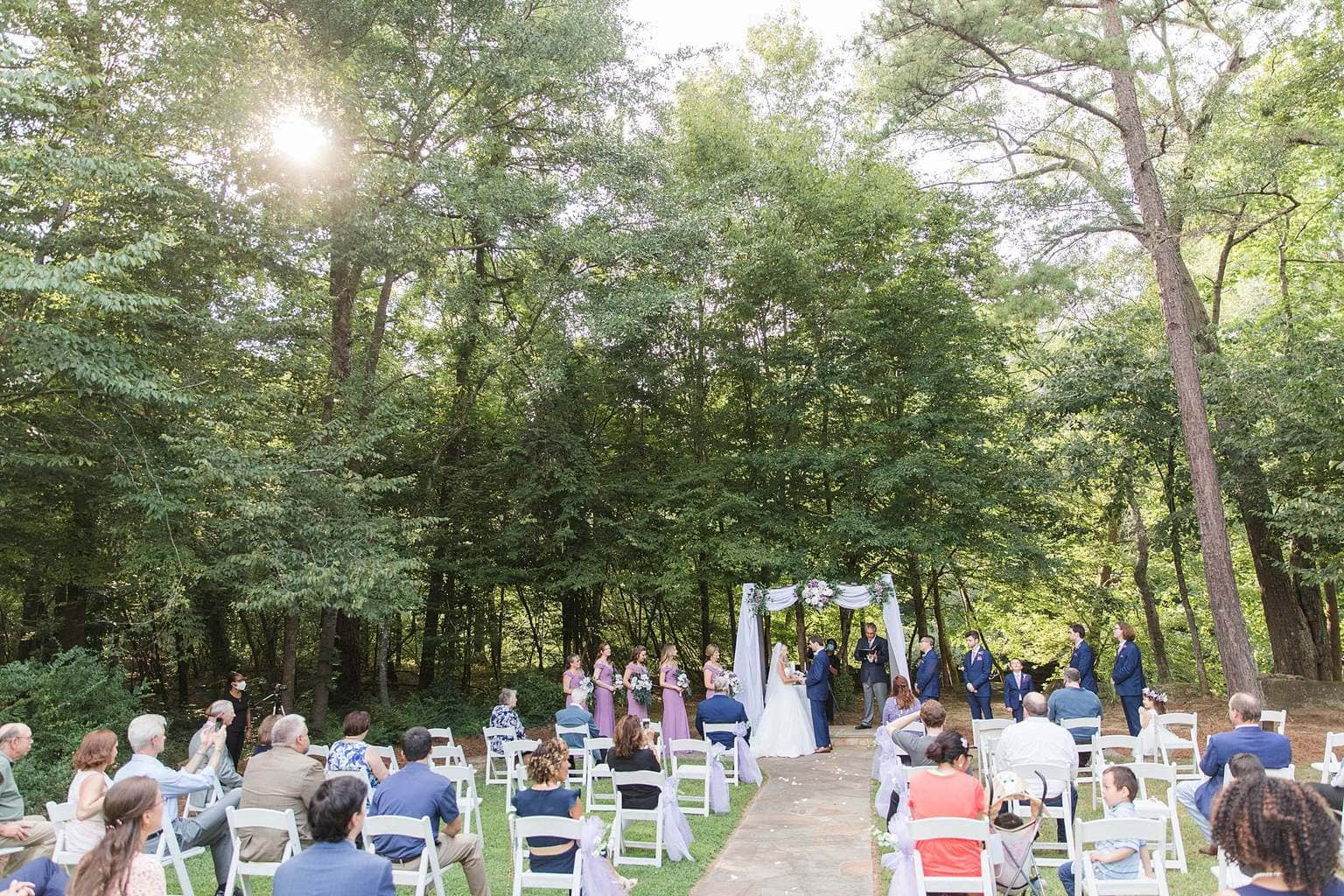 Outdoor sunset Wedding Ceremony