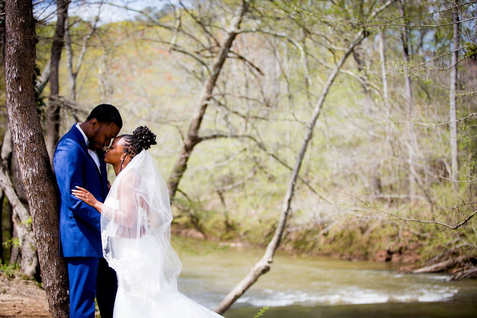 Couple in front of the River